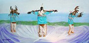 American Eagle Paintings - Eagle Dance by Pauline Ross