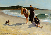 Bathing Digital Art - Eagle Head Manchester Massachusetts by Winslow Homer