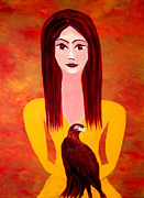 Iconic Paintings - Eagle by Linda  Lavid