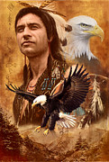 Eagle Montage Print by Garry Walton