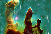 Galaxy Digital Art - Eagle Nebula 2 by Ayse T Werner