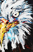 Bird Prints Paintings - Eagle by Patricia Olson