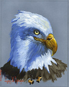 American Eagle Painting Metal Prints - Eagle Patrol Metal Print by Jeff Brimley