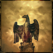 Eagles Metal Prints - Eagle sculpture Metal Print by Bernard Jaubert