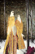 Tree In Golden Light Posters - Eagle Winter Dress 1 Poster by Kim Prowse