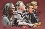 B Pastels Posters - Eagles Poster by Melanie D