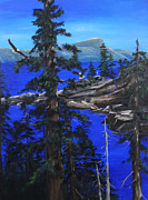 Crater Lake Paintings - Eagles Nest by D L Gerring