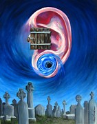 Headstones Painting Prints - Ear To Hear Print by Beth Smith