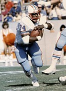 Houston - Texas Posters - Earl Campbell running back Poster by Sanely Great