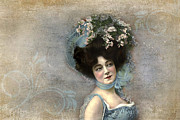 Turn Of The Century Digital Art - Early 1900s Actress by Peggy Collins