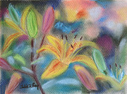 Flower Blooms Pastels Prints - Early Arrival Print by Julie Brugh Riffey