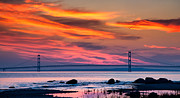 Mackinac Bridge Prints - Early Bird Big Mac Print by Todd Bielby