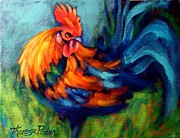 Chickens Paintings - Early Bird by Theresa Paden