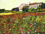 Most Viewed Painting Posters - Early Evening at Cape Cod Poster by David Lloyd Glover