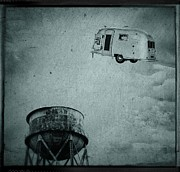 Camper Prints - Early Historic Airstream Flight Print by Edward Fielding