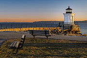 Maine Lighthouses Photo Posters - Early Morning At Bug Lighthouse Poster by Susan Candelario