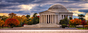 Fall  Of River Digital Art - Early Morning at the Jefferson Memorial by Jerry Fornarotto