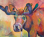 Contemporary Animal  Acrylic Paintings - Early Morning Browser by Pat Saunders-White