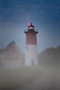 New England Lighthouse Digital Art - Early morning fog at Nauset Lighthouse by Jeff Folger