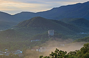 Smoky Skies Prints - Early Morning Gatlinburg IV Print by Gene Berkenbile