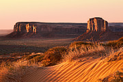 Desert Metal Prints - Early morning in Monument Valley Metal Print by Jane Rix