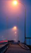 Asphalt Photos - Early Morning Lamps by James Wheeler