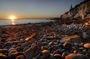 Outdoors Art - Early morning on a stone beach by Oscar Gutierrez