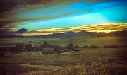 Prairie Photography Prints - Early Morning on the Ranch Print by Robert Bales