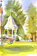 Spring Time Painting Originals - Early Morning on the Town Square by Kip DeVore