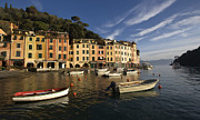 Portofino Italy Posters - Early Morning Portofino Poster by Cathy Laurenzi