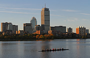 New England Acrylic Prints - Early Morning Preparation for the Head of the Charles  by Juergen Roth