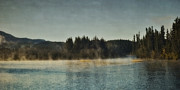 Yukon River Prints - Early Morning Print by Priska Wettstein