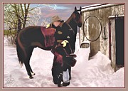 Snow Drifts Prints - Early Morning Ride Print by Ronald Chambers