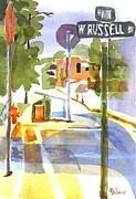 Streets Painting Originals - Early Morning Sunshine by Kip DeVore