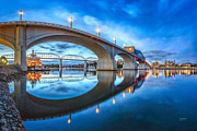 Chattanooga Photos - Early Morning Under Market Street Bridge by Steven Llorca