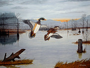 Drake Paintings - Early Risers by Jeff McJunkin