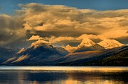 Lake Mcdonald Photos - Early Season Snow Caps by Adam Jewell