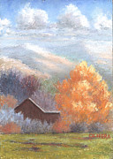 New Mexico Pastels Originals - Early Snow by Mary Olivera