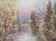 Early Pastels Metal Prints - Early Spring Morn  Metal Print by Barbara Smeaton