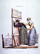 Skinny Framed Prints - Early Victorian Peeping Women Framed Print by Daniel Hagerman