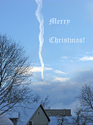 Lucky Card Posters - Early Winter Morning. Christmas Card Poster by Ausra Paulauskaite