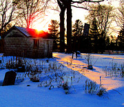 Winter Roads Photos - Early Winter Sunset by Tina M Wenger