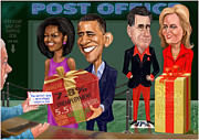 Obama 2012 Posters - Early X-mas gift Poster by Fred Makubuya