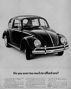 Vw Beetle Framed Prints - Earn Too Much Framed Print by Benjamin Yeager