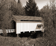 Tim Moore Prints - Earnest Covered Bridge Print by Tim Moore