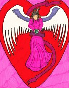 Angel Drawings - Earth Angel 2 by Wendy Coulson