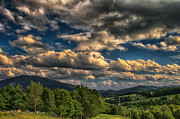 Nathan Larson Metal Prints - Earth Bending at Mt. Ascutney Metal Print by Nathan Larson