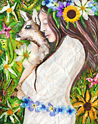 Hippie Painting Originals - Earth Child by Tara Richelle