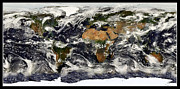 Arctic Rose Prints - Earth from NASA Terra Satellite Print by Rose Santuci-Sofranko