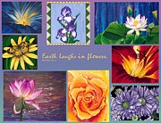 Acrylic Art Photo Posters - Earth Laughs In Flowers Poster by Patty Vicknair